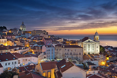 Lisbon. (Rudi1976) Tags: travel sky portugal church skyline architecture sunrise outdoors twilight europe lisbon landmark famousplace buildingexterior