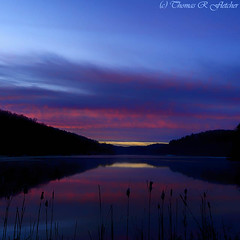 Winter Dawn (travelphotographer2003) Tags: blue winter lake cold nature square landscape dawn 11 westvirginia serenity freshness refreshment appalachianmountains purity tranquilscene cowen sunriset outdoorrecreation beautyinnature webstercounty bigditchlake solitudealleghenymountains
