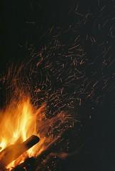 A154868_016 (Rachael.Robinson) Tags: winter light canada color film 35mm island fire flames bonfire fujifilm sparks campobello