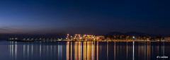 Nea Artaki (t.valilas) Tags: longexposure sea sky panorama port reflections lights nightshot outdoor greece bluehour artaki evia euboia euboea neaartaki newartaki