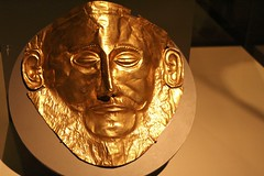 The Golden Mask of Agamemnon (LookSharpImages) Tags: chicago field museum greek golden mask fieldmuseum replica reproduction agamemnon museumcampus antiquity chicagoillinois goldenmask thegreeks greekhistory maskofagamemnon nationalarchaeologicalmuseumathens thegreeksexhibit