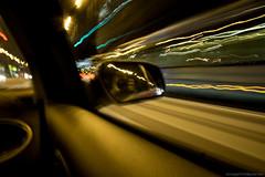 DSC09385 (domado2009) Tags: longexposure nightphotography night drive mirror sony croatia zagreb lighttrails nightphoto sonyalpha a6000 sonya6000
