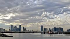 as sweet as a date palm ... (miriam ulivi) Tags: sea sky skyline clouds nuvole mare skyscrapers ships porto abudhabi cielo navi nikond3200 grattacieli emiratiarabiuniti zayedport miriamulivi