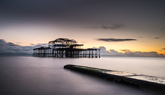 I Am The Sea (TS446Photo) Tags: world old sunset sea seascape clouds landscape coast pier nikon brighton day waves pattern jetty wreck wex d600 1835mm 10stop ts446