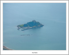 St. Michael's Mount From The Air (flatfoot471) Tags: summer england holiday landscape cornwall unitedkingdom aircraft flight aerial airline normal civilian stmichaelsmount dehavilland 2015 skybus mountsbay marizion dhc6310twinotter