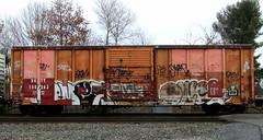 omex - owel (timetomakethepasta) Tags: train graffiti law boxcar freight sluts swab uti omex owel bkty