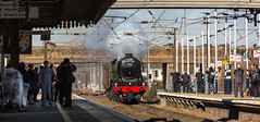 "LNER Class A3 no 60103 (4472) ""Flying Scotsman"" at Newark Northgate Station on 24-02-2016 on it's way to Wembley from the NRM at York. (kevaruka) Tags: sun color colour heritage history colors sunshine composition canon outdoors flickr colours rail railway sunny historic locomotive newark february frontpage nottinghamshire nrm nationalrailwaymuseum sunnyday steamtrain flyingscotsman eastcoastmainline 2016 4472 ecml canon100400l ef100400l 60103 newarknorthgate railnetwork canon5dmk3 kevinfrost canoneos5dmk3 ilobsterit"