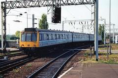 51373 + 59486 + 51415 (Sparegang) Tags: britishrail wolverhampton dmu regionalrailways 51373 51415 59486 class117 midlandregion 117310 pressedsteelunit