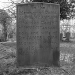 Caw family gravestone