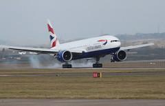 G-VIIO return (aitch tee) Tags: usa aircraft landing boeing touchdown britishairways airliner victorville walesuk cardiffairport b777200 gviio maesawyrcaerdydd cwlegff speedbird9179 baw9179
