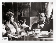 Emil Jannings and Marlene Dietrich in Der blaue Engel (1930) (Truus, Bob & Jan too!) Tags: cinema celebrity film vintage movie star 1930s kino european goddess picture super cine screen marlene card german american actress movies actor dietrich collectors legend diva emil 1930 allure blueangel marlenedietrich filmstar vedette theblueangel filmster derblaueengel jannings emiljannings superfilm blaueengel