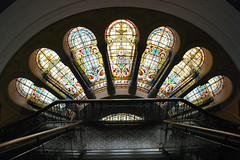 Aus878 - Stained Glass Windows, Queen Victoria Building (Donna's View) Tags: nikon sydney australia stainedglass queenvictoriabuilding d60