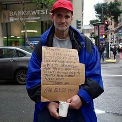 terminal illness (vhines200) Tags: sanfrancisco sign homeless montgomerystreet panhandler 2016