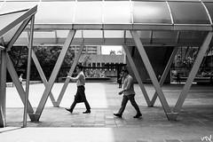 Employed (riotvans) Tags: walking triangle perspective manila makati proportion employee ayala