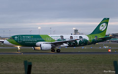 Aer Lingus (IRFU Irish Rugby Team Livery) A320-200 EI-DEO (birrlad) Tags: morning ireland dublin irish colour sunrise airplane dawn airport team rugby taxi aircraft aviation airplanes international airline airbus airways airlines scheme departure takeoff runway dub decals aerlingus airliner titles departing a320 livery taxiway a320200 irfu a320214