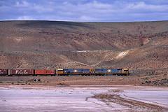 Wirrappa (Bingley Hall) Tags: railroad train diesel transport engine rail railway australia transportation locomotive interstate southaustralia mesa freight tar saltpan nationalrail intermodal artc wirrappa