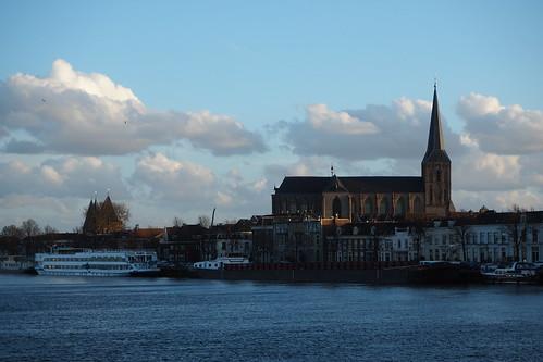 IJsselfront met Bovenkerk, Kampen (NL)