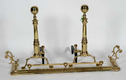 Virginia Metalcrafters Brass Andirons - $198.00