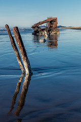 2016-01-10 - Peter Iredale Shipwreck-56 (www.bazpics.com) Tags: ocean sea usa beach water oregon america skeleton sand ship pacific or wave peter shipwreck frame hull wreck iredale