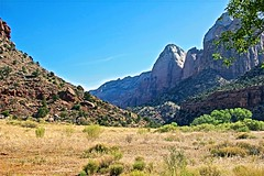 Zion National Park (Herculeus.) Tags: morning summer mountains landscape landscapes utah ut rocks outdoor hill erosion zion zionnp nationalparks scrub 5photosaday