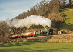 Castle Hill Delight (4486Merlin) Tags: england southwest europe unitedkingdom transport somerset steam signals railways castlehill westcountry gbr westsomersetrailway heritagerailways 92214 exbr brstd9f2100 50thanniversaryclosureoftheline sd50thclosureanniversary