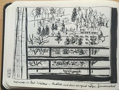 view from window, Bad Wildbad (run.write.draw) Tags: brushpen