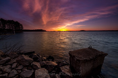 Sunset at Federal Park (John Cothron) Tags: longexposure winter sunset sky usa cloud sun cold color reflection nature digital georgia landscape us unitedstatesofamerica scenic lakeshore thesouth dixie 15mm eveninglight lakelanier carlzeiss federalpark hallcounty americansouth flowerybranch southernregion 35mmformat oldfederalpark 5dmarkii 5d2 5dii johncothron 5dmkii canoneos5dmkii southatlanticstates leefiltersystem cothronphotography 3stopneutraldensityfilter distagon1528ze 3stopreversegraduatedfilter lee90nd singhray9reversegrad zeissdistagont2815mmze johncothron img13294160316 sunsetatfederalpark