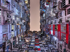 A Thousand Homes (night86mare) Tags: light building architecture night bay hong kong fujifilm quarry cheong yick xt1