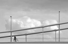 passing cloud (_bim_) Tags: cloud nuvola budapest bn bicicletta