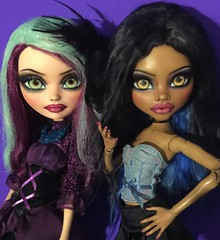 "Monster High Clawdeen & Ever After High Madeline 17"" girls just want to have fun  (Amethyst Violet) Tags: girls monster fun high want have just 17 after bjd hobbies madeline ever abjd collectibles balljointeddoll clawdeen"