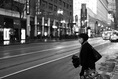 Cross Here (marq4porsche) Tags: sanfrancisco road street city light urban blackandwhite bw white black classic film look canon eos san francisco noiretblanc bokeh filmic 6d