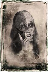 masked (madmtbmax) Tags: old portrait woman wet girl photomanipulation vintage scary nikon mask 85mm retro spooky wetplate masked collodion docma d700 kollodium collodium vividstriking arbotype