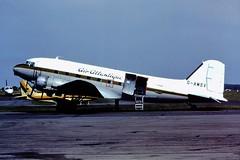 G-AMSV DC3 Air Atlantique CVT 06-06-1982 (cvtperson) Tags: air coventry dc3 atlantique cvt egbe gamsv