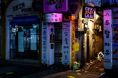 The Road Less Taken (TigerPal) Tags: road blue mystery night alley darkness path availablelight korea korean seoul mysterious underbelly afterdark sungshinwomensuniversity