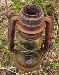 oil lamp abandonned in woods (bob the lomond) Tags: lamp scotland rusty abandonned oillamp rspb gartocharn bobthelomond rspblochlomond