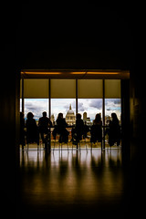 Living The View - St Pauls & London City by Simon & His Camera (Simon & His Camera) Tags: city light shadow sky people urban cloud building london window glass silhouette skyline architecture composition contrast lights stpauls environmental indoor shade dome iconic simonandhiscamera