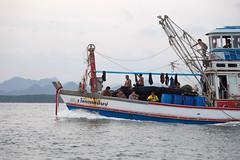 The Boatride to Rai Leh (virtualwayfarer) Tags: travel tourism canon thailand fishing asia southeastasia paradise coastal thai dslr fishingboat canondslr krabi travelblog raileh railay fishingship krabiprovince travelblogger canon6d visitthailand alexberger virtualwayfarer
