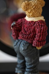 """do these make my butt look big?"" (s@ssyl@ssy) Tags: bear reflection mirror truth jeans question bigbutt 1352 weeklychallenge littlewhitelies boydsbear 52x52"
