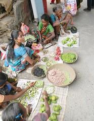 Tribal women selling raw mangoes and cashew seeds, Pali Market (Sachin Baikar) Tags: india temples maharashtra pali ganpati ashtavinayak maharashta ballaleshwar ballaleshwartemple palimarket photographybysachinbaikar