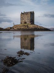 Castle Stalker (Dave Holder (back soon)) Tags: castles water reflections landscape scotland castlestalker canonefs1022mm lochlaich canon70d