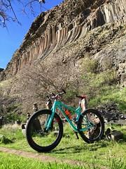 Stache'n at Hells Gate (Doug Goodenough) Tags: bicycle bike cycle pedals spokes hells gate park lewiston idaho columnar basalt spring 2016 16 trek stache 5 march drg53116 drg53116p drg53116pstached drg53116stache drg531