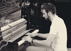 Portrait (Natali Antonovich) Tags: street portrait paris france monochrome profile piano lifestyle pianist wingedparis