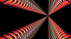 heavenly coil springs (HansHolt) Tags: light red macro canon licht vanishingpoint spring heaven 300d infinity perspective twist veer helix coil rood twisted heavenly canoneos300d feedback endless eindeloos perspectief herhaling verdwijnpunt canonef100mmf28macrousm oneindig gedraaid