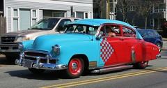 1950 Chevrolet Fleetline 2-door sedan (Custom_Cab) Tags: street door blue red 2 two chevrolet car sedan de deluxe special chevy rod custom tone 1950 luxe fleetline fastback kustom 2door