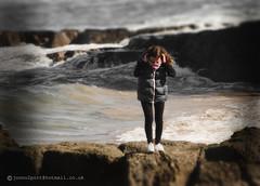 jump (spatialpan) Tags: sea water girl rocks waves atlantic arcadia portrush