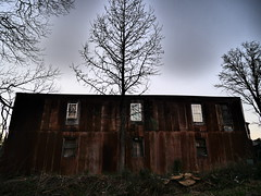 dark tree (Notes From the Blue Room) Tags: barn dark scary darkness decay ominous stormy