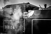 Waiting (aljones27) Tags: bw monochrome blackandwhite sheringham nnr northnorfolkrailway railway train trains engine engines steam old vintage preserved 31806 matchpoint winner t557