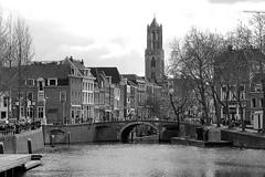 Utrecht - Domtoren - Oudenoord (max.veldhuis) Tags: bw water 35mm nikon utrecht grachten weerdsingel oudenoord weerdzicht d7000 maxveldhuis