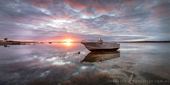 And I  think to myself ... what a wonderful day (Images by Ann Clarke) Tags: clouds boat dinghy stitchedpanorama