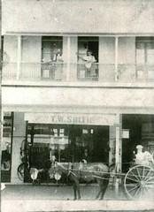 T W Smith saddlery shop, Woolloongabba - circa 1900 (Aussie~mobs) Tags: horse shop vintage australia brisbane business queensland cart buggy woolloongabba saddlery twsmith